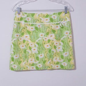 Lilly Pulitzer Green Floral A-line Skirt